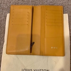 Louis Vuitton BRAZZA WALLET long wallet yellow